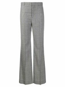 Balenciaga flared checked trousers - Black