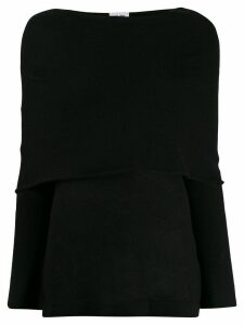 Each X Other cape detail jumper - Black