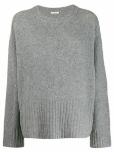 6397 long sleeve boxy fit sweater - Grey