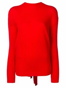 Valentino tie-back sweater - Red