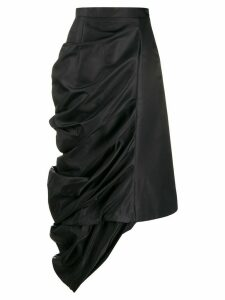 Y/Project draped satin skirt - Black