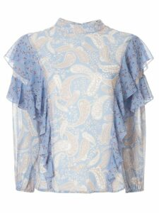 We Are Kindred Amalfi ruffled blouse - Blue
