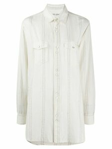 Saint Laurent long oversize shirt - NEUTRALS