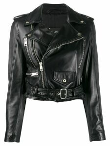 Manokhi zip-up biker jacket - Black