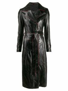 Manokhi contrast trim trench coat - Black