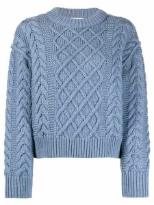 Each X Other cropped cable knit jumper - Blue