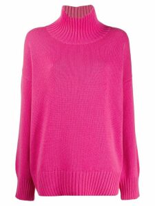 Canessa oversized turtle neck jumper - Pink