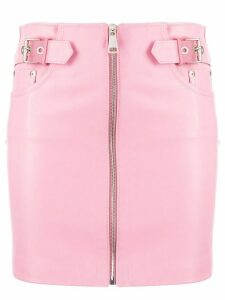 Manokhi short zip-up skirt - PINK