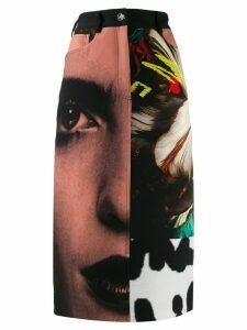 Paul Smith printed midi skirt - Black