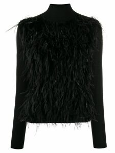 Giambattista Valli roll-neck embroidered jumper - Black