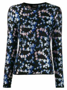 Giambattista Valli floral-embroidered jumper - Black