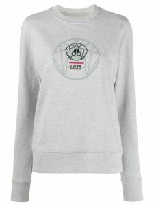 Moose Knuckles geometric print jumper - Grey