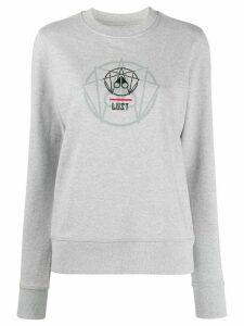 Moose Knuckles geometric print jumper - Grey