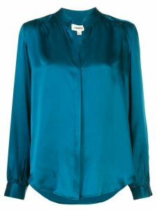 L'Agence Bianca loose-fit silk shirt - Blue