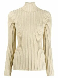 Victoria Victoria Beckham ribbed turtleneck jumper - GOLD