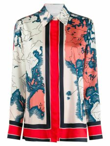 Victoria Victoria Beckham map-print long-sleeve shirt - White