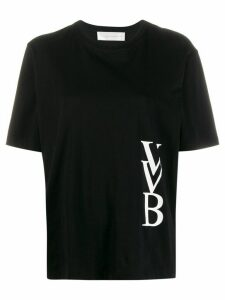 Victoria Victoria Beckham logo-print T-shirt - Black