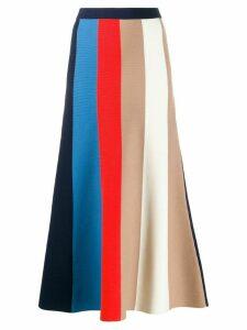 Victoria Victoria Beckham block stripe knit skirt - Blue