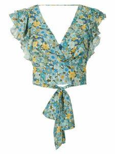 Clube Bossa Lumi printed crop blouse - Blue