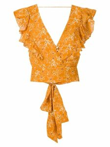 Clube Bossa Lumi cropped top - ORANGE