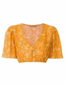 Clube Bossa Runa printed crop blouse - ORANGE