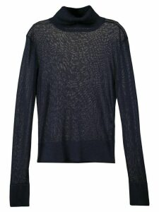 Altuzarra Lexia sheer metallic turtleneck jumper - Blue