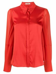 Dorothee Schumacher pointed collar silk shirt - Red