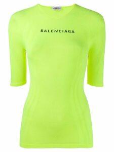 Balenciaga logo detail T-shirt - Yellow