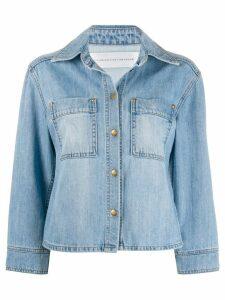 Victoria Victoria Beckham cropped-sleeve denim jacket - Blue