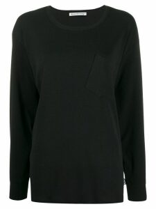 T By Alexander Wang oversized crew-neck top - Black