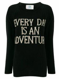 Alberta Ferretti cashmere slogan jumper - Black