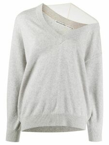 Alexander Wang asymmetric off shoulder jumper - Grey
