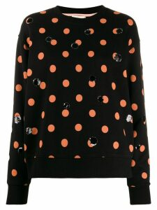 Tory Burch dotty sequin sweatshirt - Black