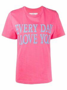Alberta Ferretti slogan short-sleeve T-shirt - PINK