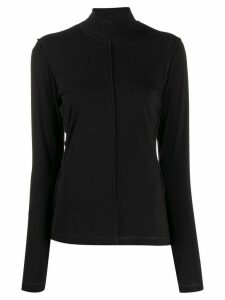 GANNI split-seam jersey top - Black