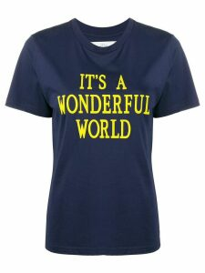 Alberta Ferretti slogan short-sleeve T-shirt - Blue