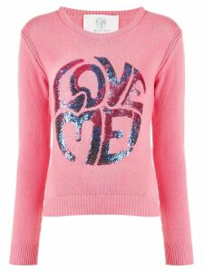 Alberta Ferretti Love Me sequinned jumper - PINK