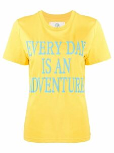 Alberta Ferretti slogan short-sleeve T-shirt - Yellow