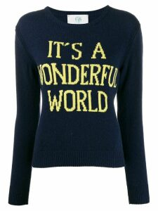 Alberta Ferretti Wonderful World crew neck jumper - Blue