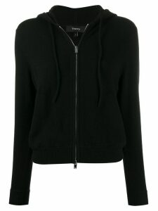 Theory cashmere zipped cardigan - Black