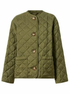 Burberry logo print quilted jacket - Green