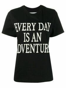 Alberta Ferretti slogan short-sleeve T-shirt - Black