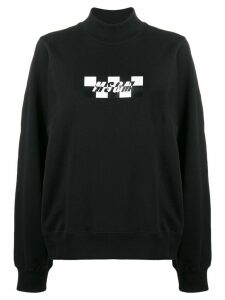 MSGM checkerboard-logo sweatshirt - Black