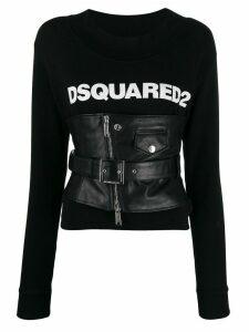 Dsquared2 corseted logo sweatshirt - Black