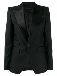 Dsquared2 glitter brush tuxedo jacket - Black