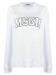 MSGM college logo sweatshirt - White