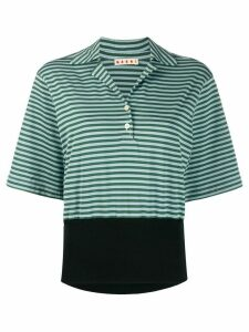 Marni striped polo shirt - Green