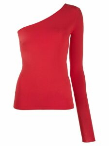 Stella McCartney one-shoulder knitted top - Red