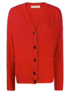 Marni contrasting piping cardigan - Red