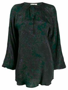 Mes Demoiselles Marcassite printed blouse - Black
